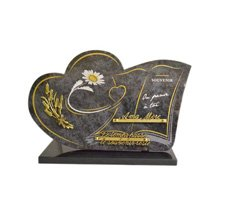 Plaques funéraires en coeur - D11610731C-MBL-BLE