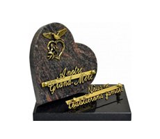 Plaques funéraires en coeur - D11698040C-HIB-COE