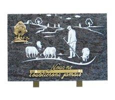 Plaque funéraires à thème - HOCH-13538-MBL