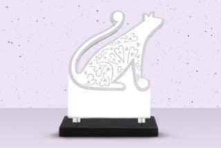 Plaque funéraire chat